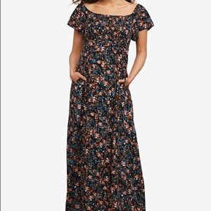 Motherhood Maternity Off the Shoulder Maxi. Medium